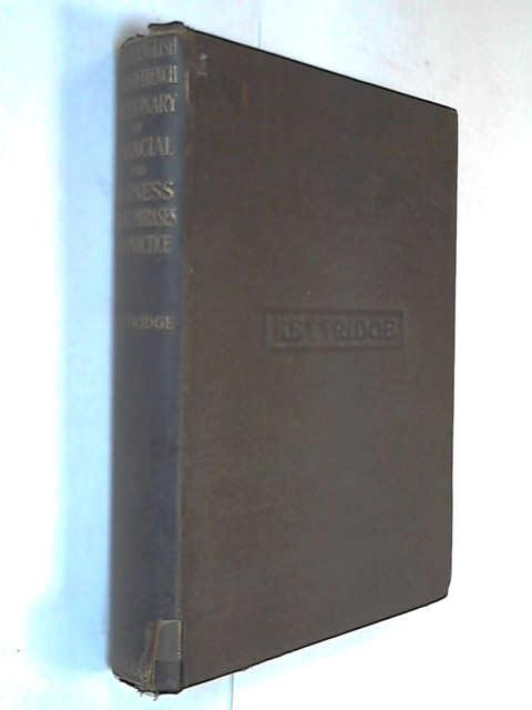 English-French Dictionary of Commercial and Financial Terms, Kettridge, J.O.