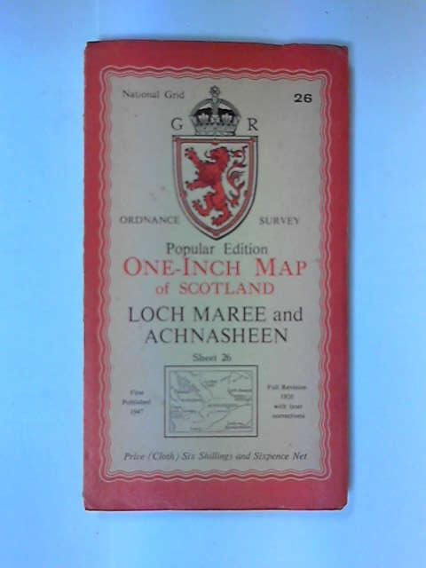 One Inch Map Loch Maree and Achnasheen, .