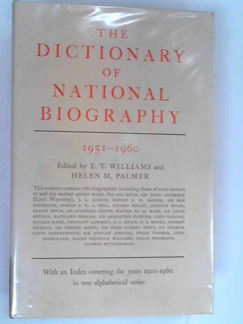 Dictionary of National Biography, E. T. Williams