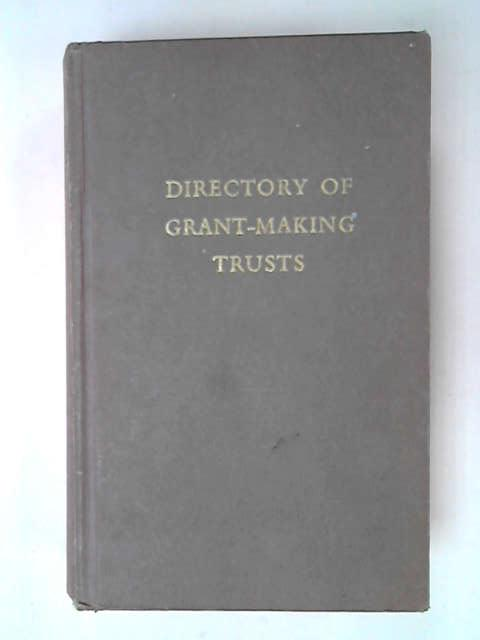 Directory of Grant Making Trusts, Fourth Compilation, J.D. Livingston Booth