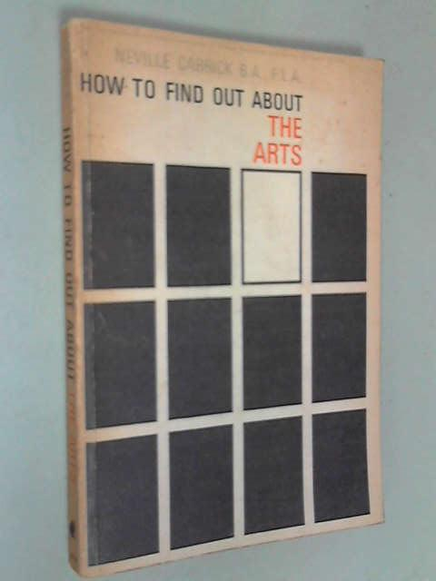 How to Find Out About the Arts, Carrick, Neville