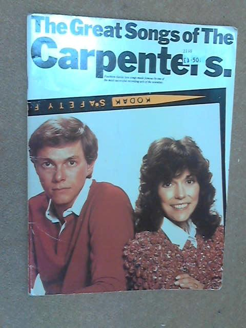 The Great Songs of The Carpenters (Piano Vocal Guitar)