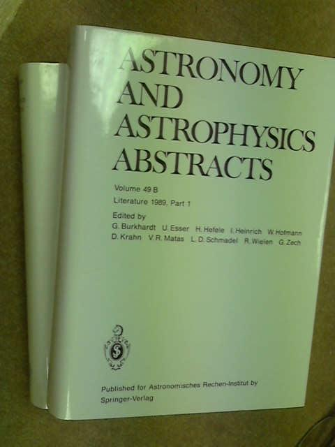 Astronomy and Astrophysics Abstracts: Literature 1990: 49 (Astronomy & Astrophysics Abstracts), Bohme, S.