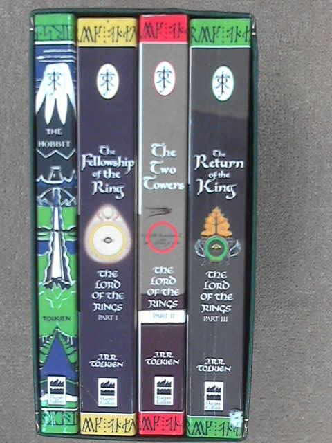 Lord of the Rings Trilogy with The Hobbit, 4 volumes in slipcase [ The Fellowship of the Ring, The Two Towers, The Return of the King ]