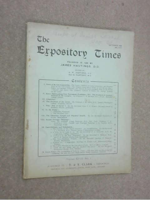The Expository Times - Volume XLVII No: 1, Unkown