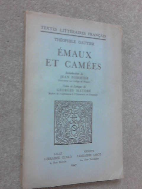 Emaux et camees, Theophile Gautier
