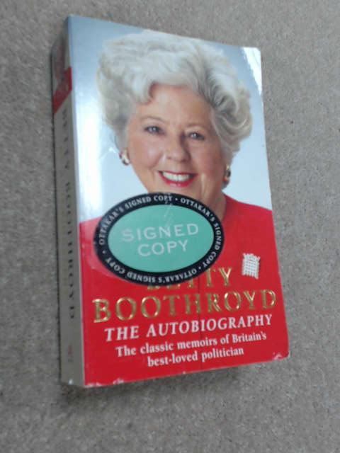 Betty Boothroyd Autobiography, Betty Boothroyd