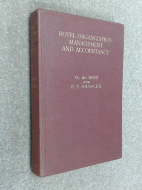 Hotel Organization Management and Accountancy, De Boni, G.