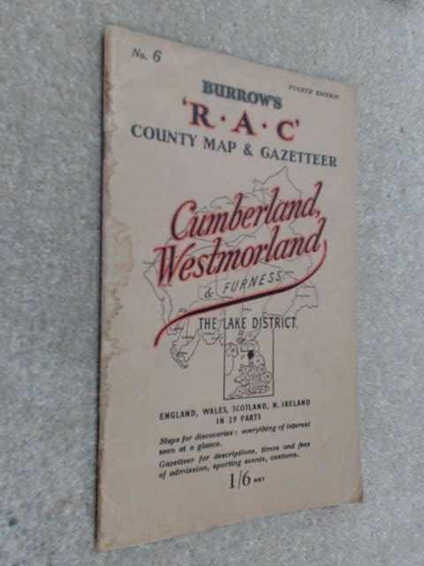 Burrow's R.A.C. Country Map And Gazetteer. Cumberland, Westmorland And Furness. No 6, Unknown