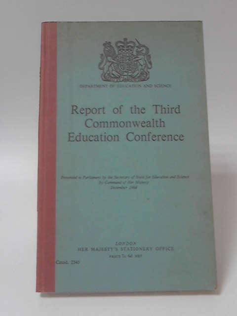 Report Third Commonwealth Education Conference, Not Stated