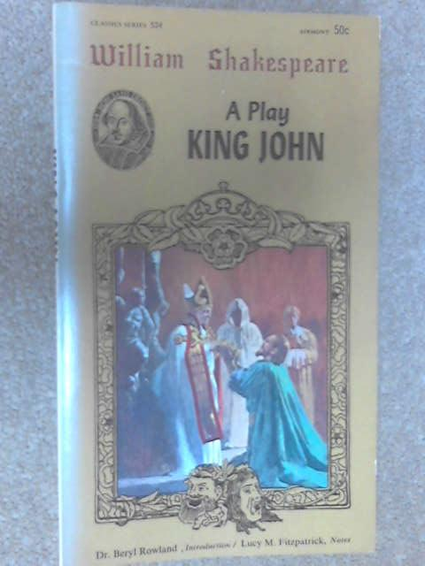 King John, Shakespeare, William