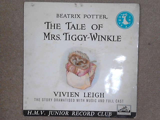 "The Tale Of Mrs. Tiggy-Winkle 7"" red vinyl, Beatrix Potter / Vivien Leigh"