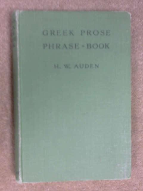 Greek Prose Phrase Book