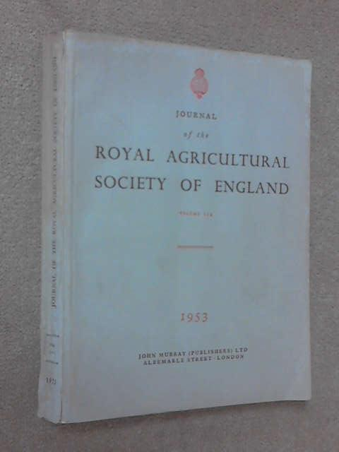 Journal of the Royal Agricultural Society of England by Various