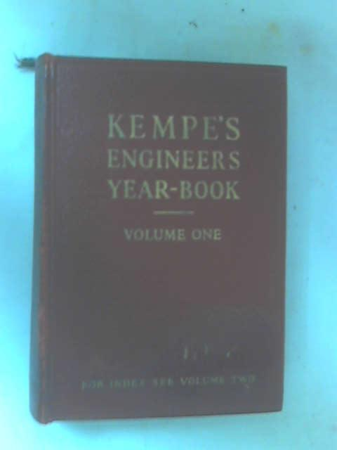 Kempe's Engineers Year-Book for 1960, Vol. 1 by Kempe