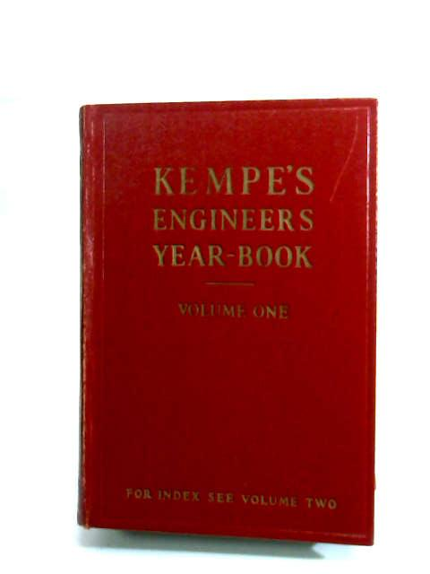 Kempes Engineers Year Volume One 1968 by Prockter, C. E.