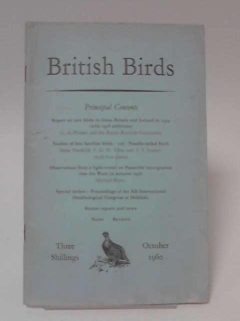 British Birds Volume 53 No 10 October 1960 by Various