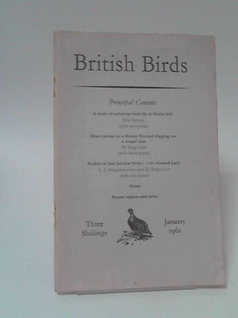 British Birds Volume 55 No 1 January 1962 by Various