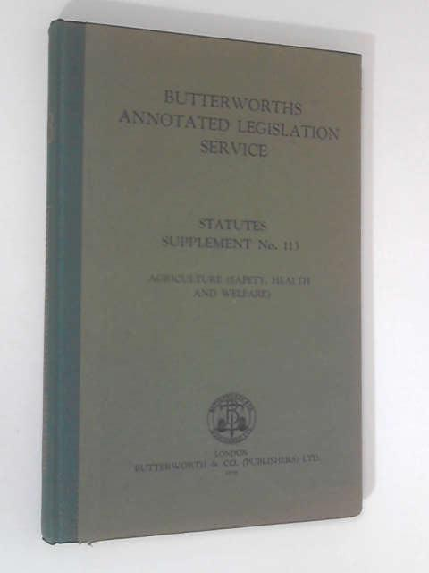 Annotated Legislation Service: Statutes Supplement, No. 113 by Ian Fife & E. Anthony Machin