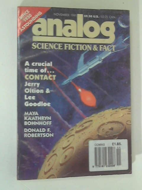 Analog' Science Fiction & Fact: November 1991 by Oltion & Goodloe, Bohnhoff, Robertson