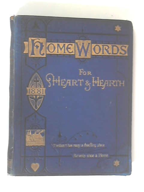 Home Words for Heart & Hearth 1881 by Rev. Charles Bullock