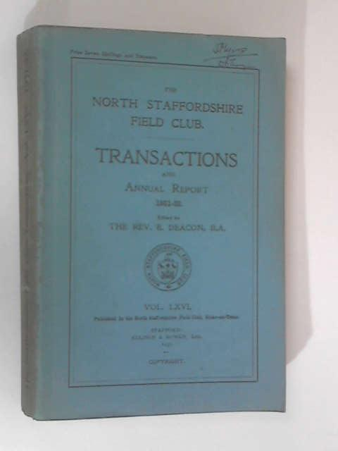 Transactions & Annual Report, 1931-32, Vol. 66 by Deacon