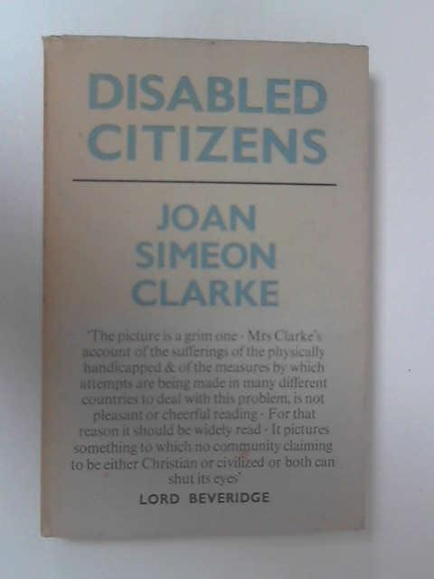 Disabled Citizens by Joan Simeon Clarke