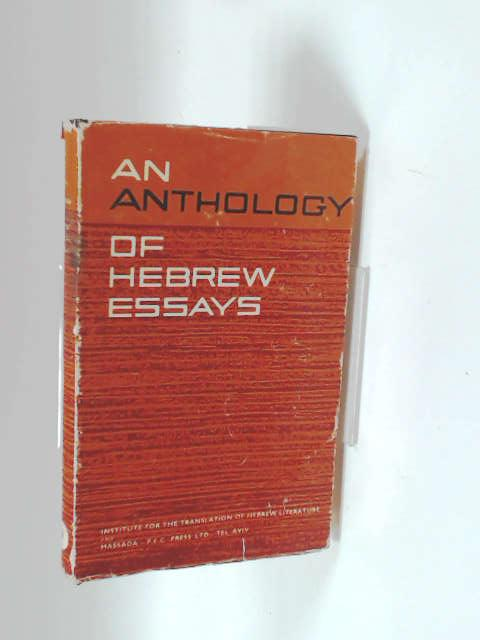 A Anthology of Hebrew Essays by Israel Cohen and B. Y. Michali
