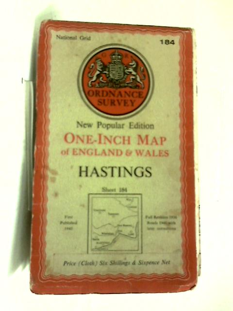 New Popular Edition One-Inch Map Sheet 184 Hastings by Anon