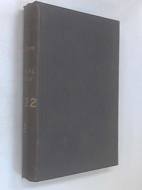 The Law Reports Appeal Cases 1922 Vol 2 by Various