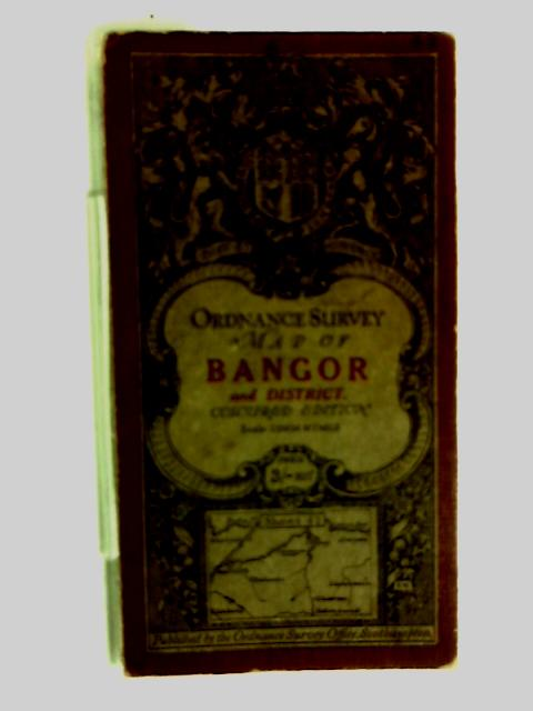 Ordnance Survey Contoured Map Of Bangor & District by Anon