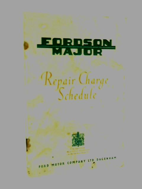 Repair charge schedule by Anon
