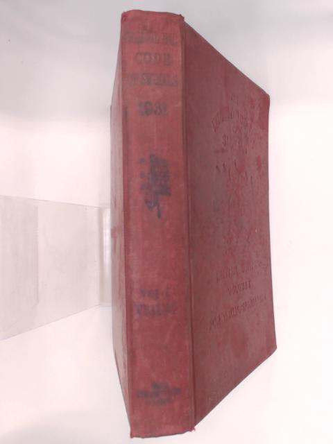 The 1931 International Code of Signals : Supplement 1950. Volume I by Unknown