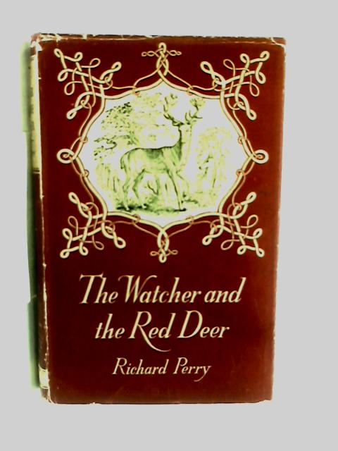 The watcher and the red deer by Richard Perry