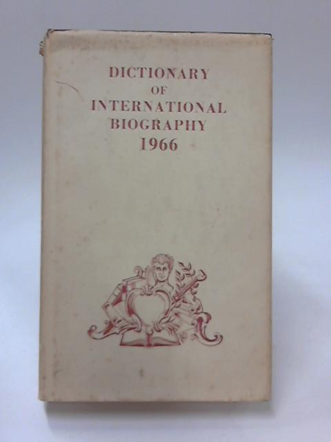 Dictionary of International Biography Volume Three by Geoffrey Handley-Taylor