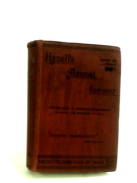 Hazells annual for 1907 By W Palmer