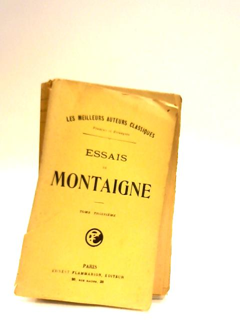 montaigne essays french text Essays a selection by michel de montaigne available in trade paperback on powellscom note on the text french essays subject: montaigne, michel de.