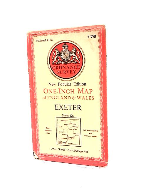 One-Inch Map of England & Wales Exeter Sheet 176 by Ordnance Survey