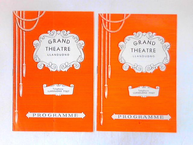 2 programmes from the Grand Theatre, Llandudno by Various