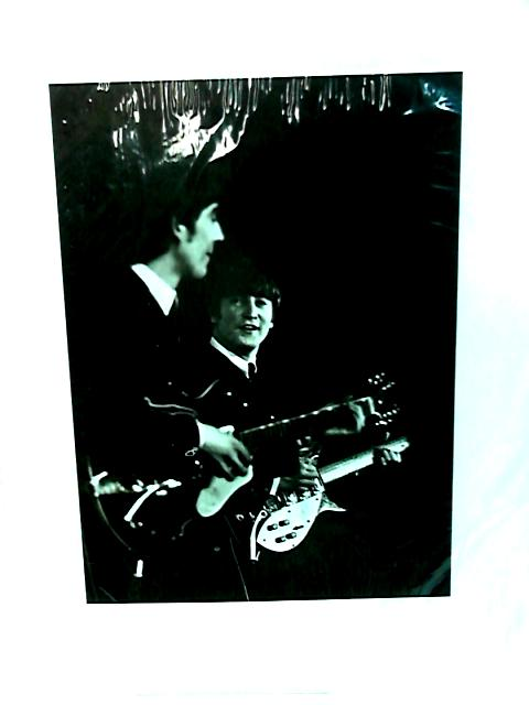 Beatles print of John Lennon and George Harrison by NA