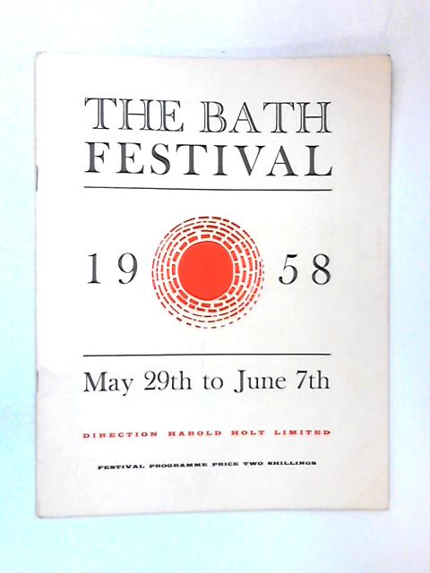 The Bath Festival 1958, May 29th - June 7th by Various
