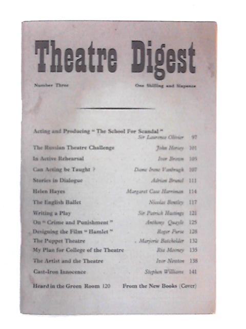 Theatre Digest, Number 3 by Various