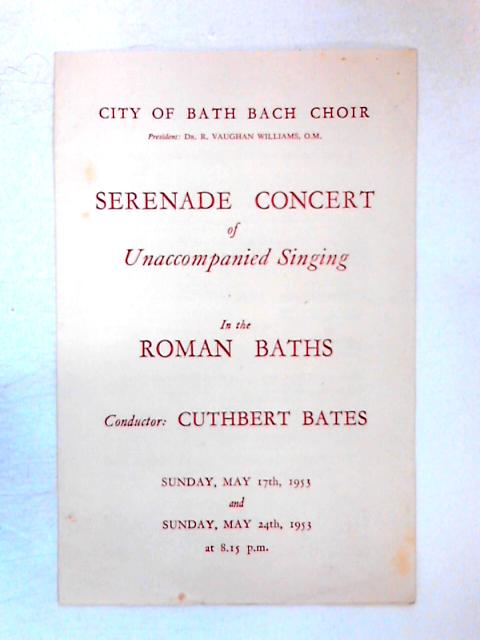 Serenade Concert of Unaccompanied Singing in the Roman Baths by Various