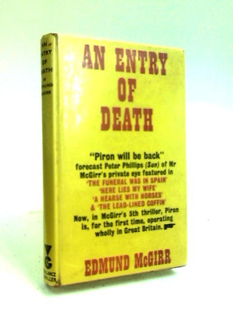 An Entry of Death by McGirr, Edmund