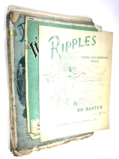 10 Sheets of Sheet Music including Ripples By Sid Baxter and Its a Sin to tell a Lie by NA
