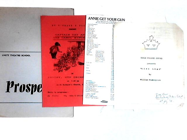 5 pieces of theatre related papers by NA