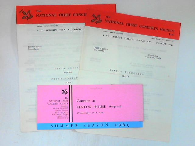 Collection of 3 theatre related documents by NA