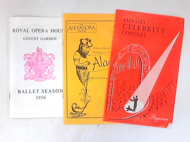 Collection of 3 theatre programmes by Various