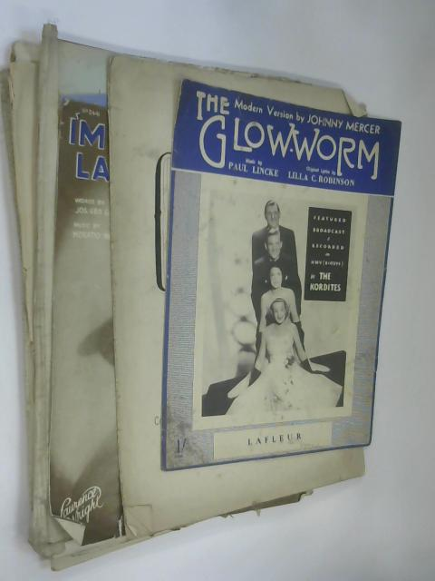 10 Sheets of Sheet music including The Glow Worm by Johnny Mercer by NA