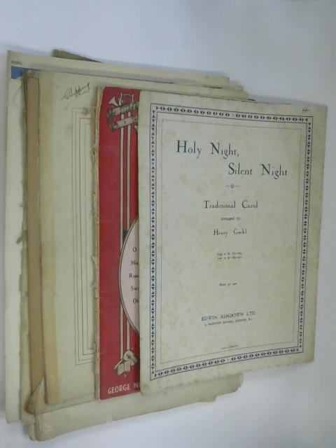 10 Sheets of Sheet Music including Holy Night by Henry Geehl and The Worlds Favourite Songs by NA